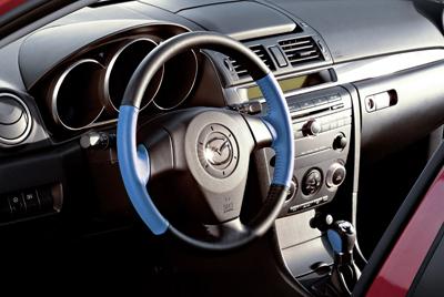 Two-tone steering wheel