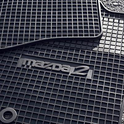 Rubber mats, rear