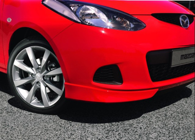 Front bumper corner spats