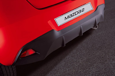 Rear bumper sports trim