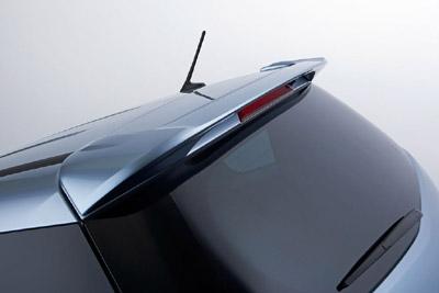 Rear roof spoiler