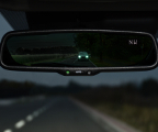 Aut-Dimming rearview mirror with compass