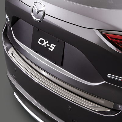 Rear bumper step plate